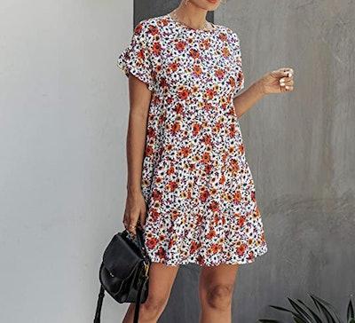 KIRUNDO 2020 Loose Pleated Dress