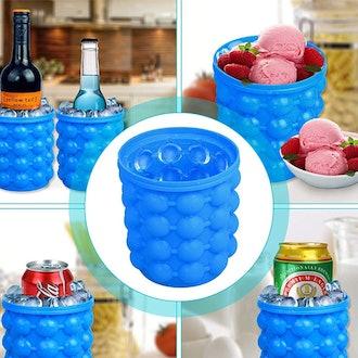 NEIJIANG Large Silicone Ice Bucket & Ice Mold