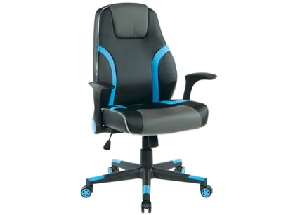 Kids Delenn LED Gaming Chair in Blue