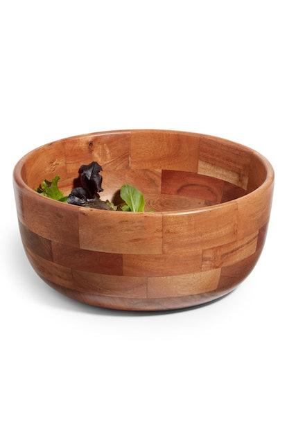 Medium Wood Serving Bowl