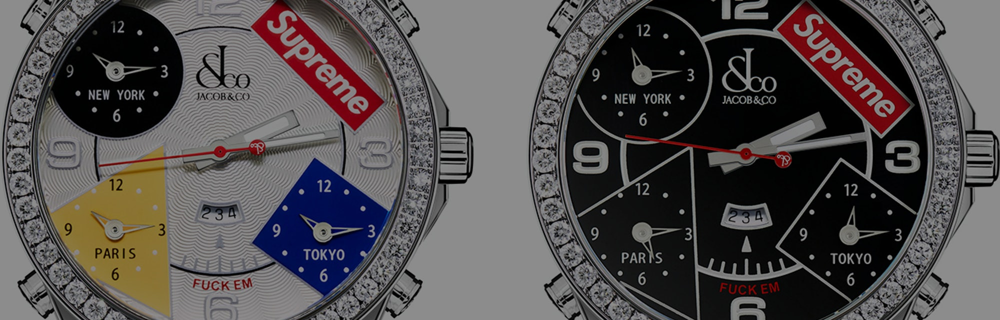 Supreme Jacob & Co. Diamond Watch