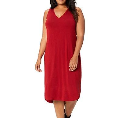 Amazon Brand - Daily Ritual Women's Sleeveless V-Neck Dress