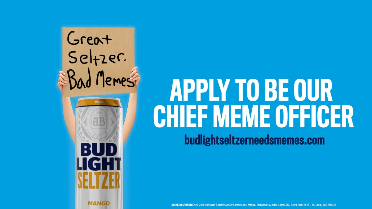 Here's how to apply for Bud Light's Chief Meme Officer job.