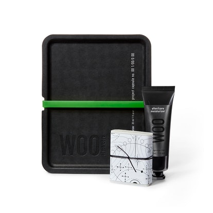 Tattoo After/Care kit from Dr. Woo's new skincare and lifestyle brand, WOO.