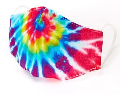 Cotton Rainbow Tie Dye Face Mask
