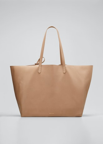 Oversized Lamb Leather Tote Bag