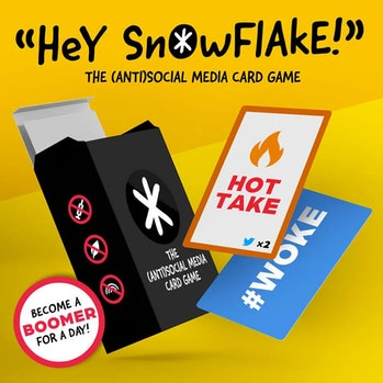 """The (Anti)Social Media Card Game"" is an AI-generated game concept."