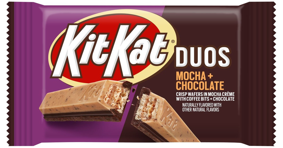 Kit Kat Is Launching A Mocha & Chocolate Flavor That Features Coffee Bits