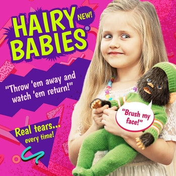 """""""Hairy Babies"""" is a toy concept generated by AI."""