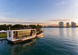 The Arkup at sunset with the Miami skyline