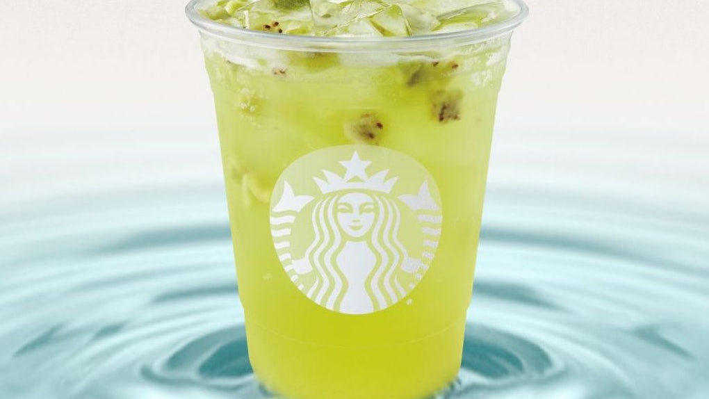 Starbucks' new Kiwi Starfruit Refresher is a dairy-free addition to the company's Refreshers line. View