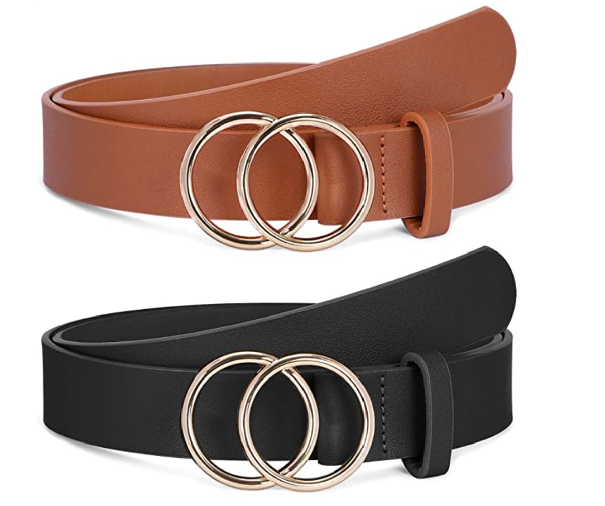 Faux Leather Belt (2-Pack)