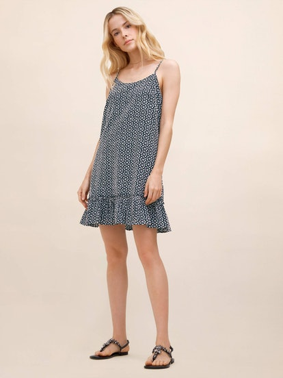 Flounce Hem Mini Dress