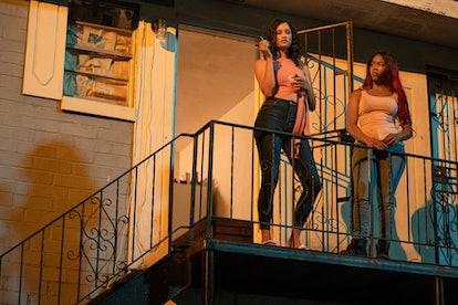 Ellarica Johnson and Brandee Evans in 'P-Valley.'
