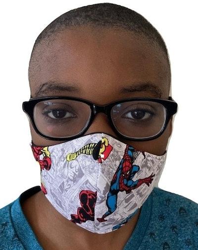 Face Masks for Kids in Super Heroes, AlphVizDesigns