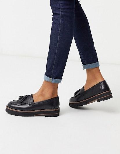 ASOS Design Meze Chunky Fringe Leather Loafers