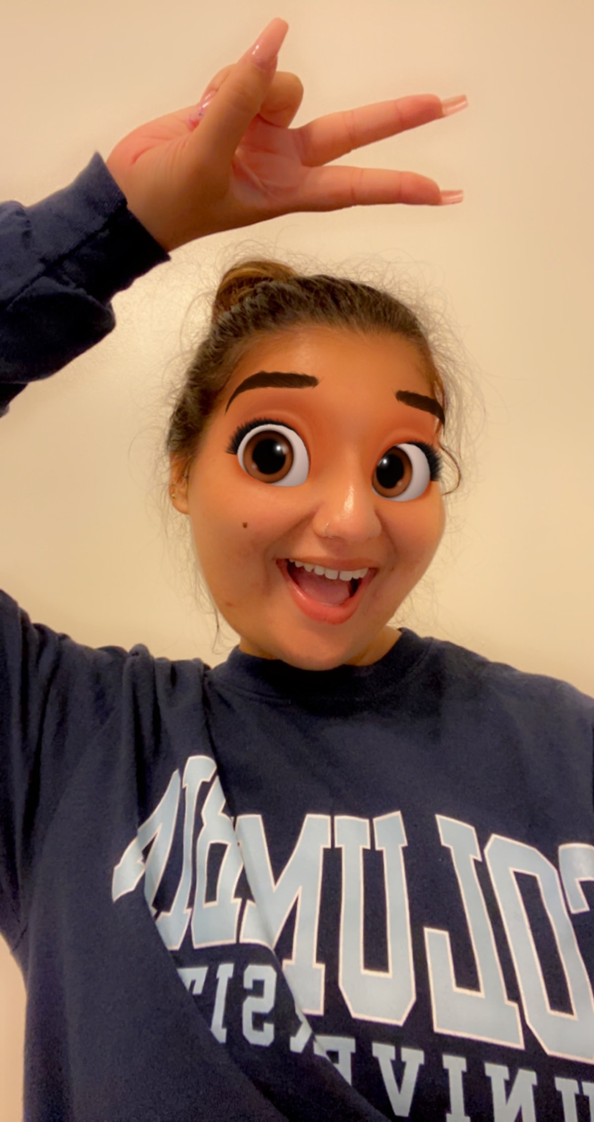 Cartoon Face by Snapchat uses AR effects to cover your eyes with animated ones that look like a Disney character.