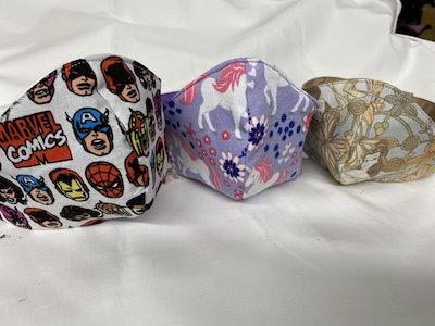 Kid Sized Wraparound Velcro Masks With Filter Pocket, AlterTopsShop