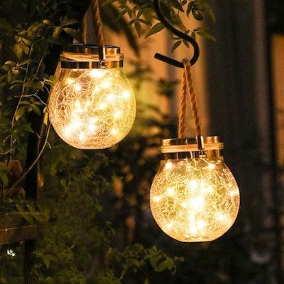 Glass Jar Solar Light for Patio Lawn Backyard