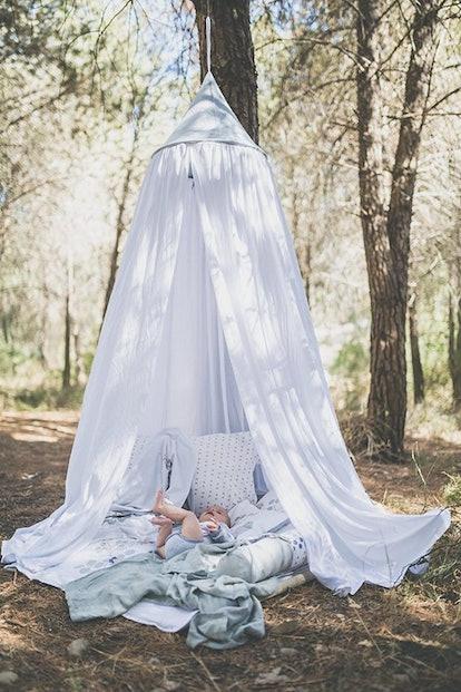White Organic Cotton Hanging Tent