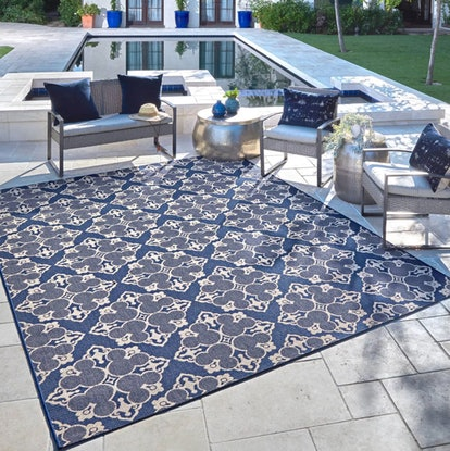 Mickey Mouse & Friends Medallion Outdoor Rug Navy