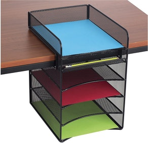 Safco Products Onyx Mesh 5-Tray Underdesk Tray