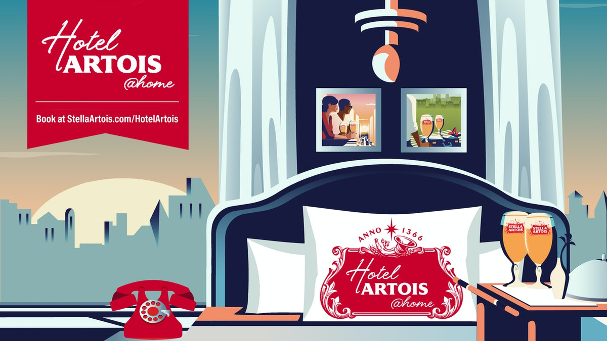 """Stella Artois' """"Hotel Artois @Home"""" brings celebrities and luxe vacation vibes to you."""