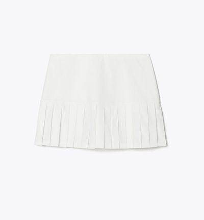 Pleated-Hem Tennis Skirt