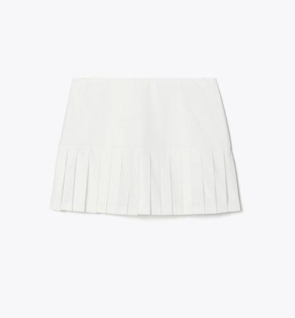 Pleated-Hem Tennis Skirt