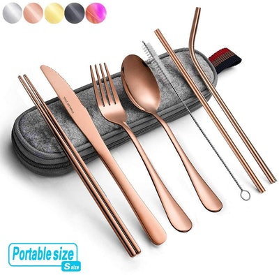 Hommaly Travel Flatware Set with Case (8-Piece)