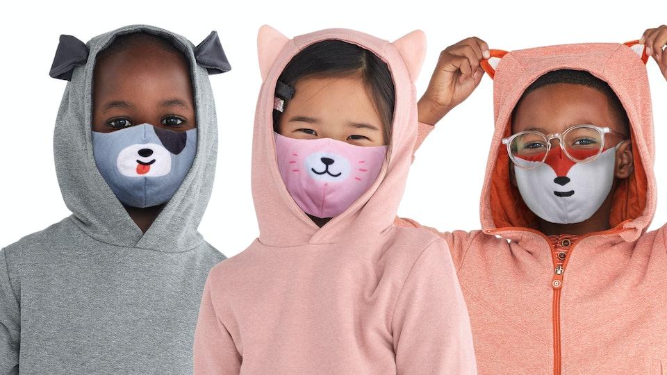 reversible, comfortable masks for children