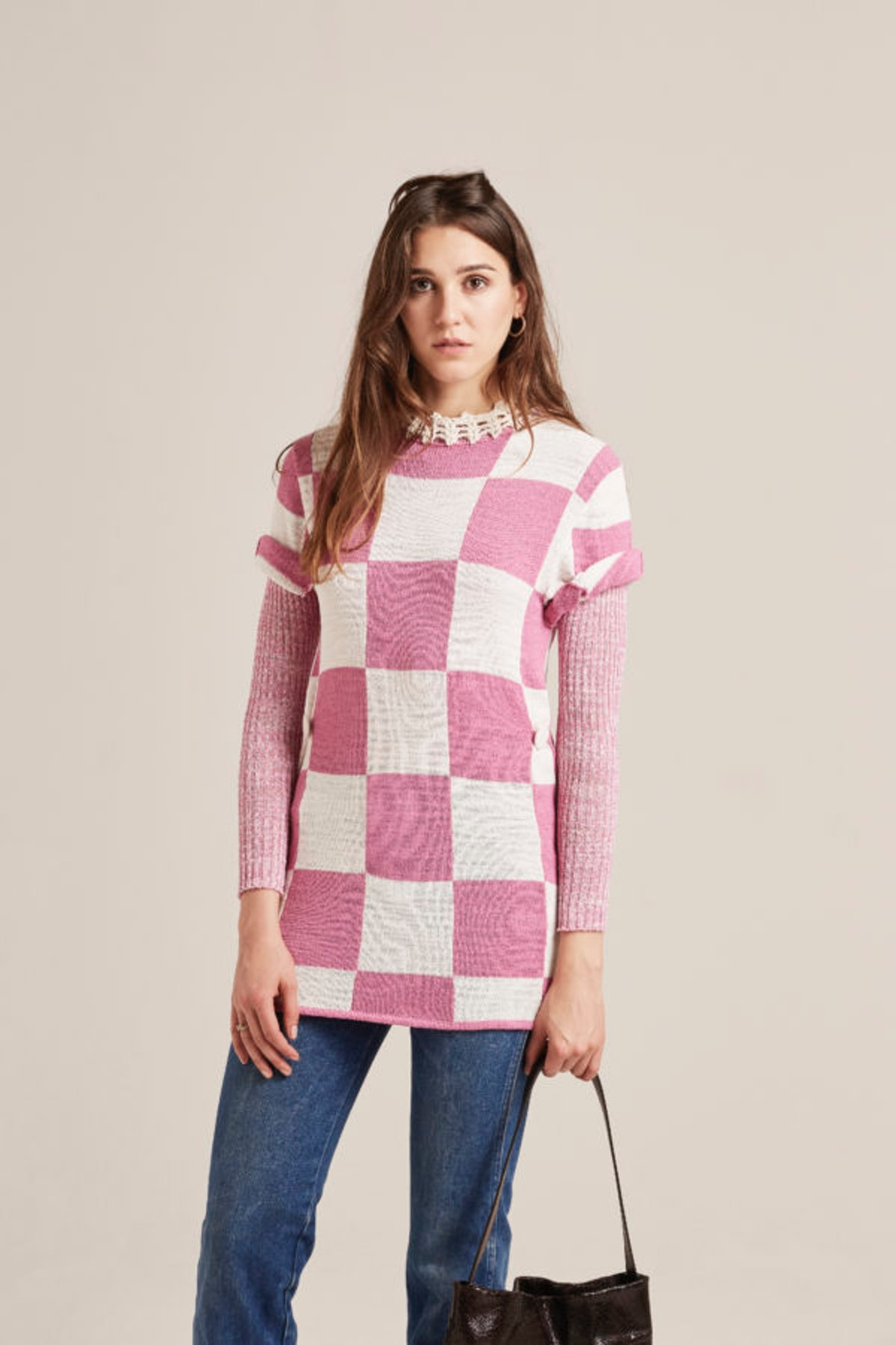 Alice Damier Knitted Sweater