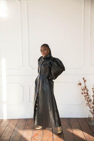 Umi Dress Vegan Leather Black