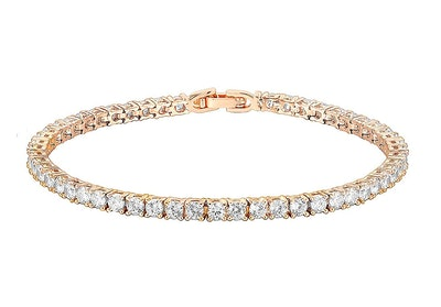 PAVOI 14K Gold Plated Cubic Zirconia Classic Tennis Bracelet