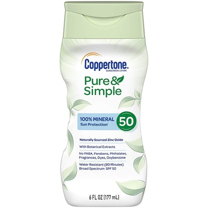 Coppertone Pure & Simple SPF 50 Sunscreen Lotion