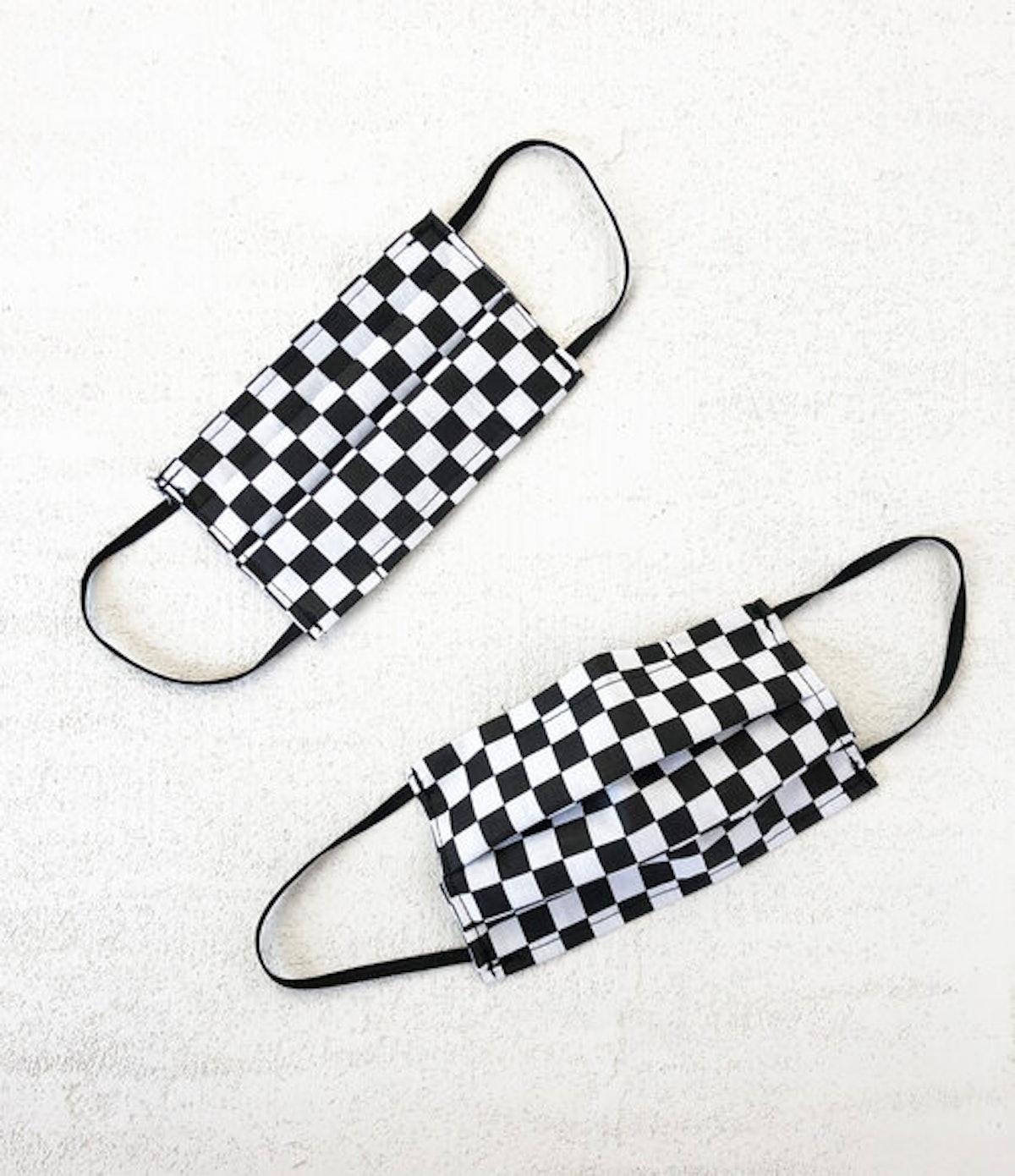 Checkered Cotton Mask