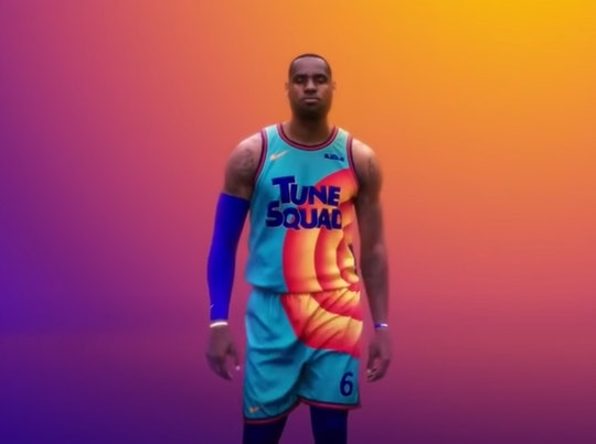 Lebron James unveiled the first look at the new uniforms in the new 'Space Jam' movie due out in 2021.