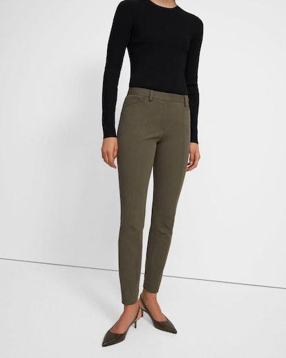 Seamed Trouser In Bi-Stretch Cotton Twill