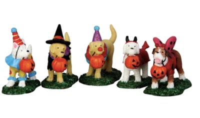 Lemax Spooky Town Trick-Or-Treating Dogs Set