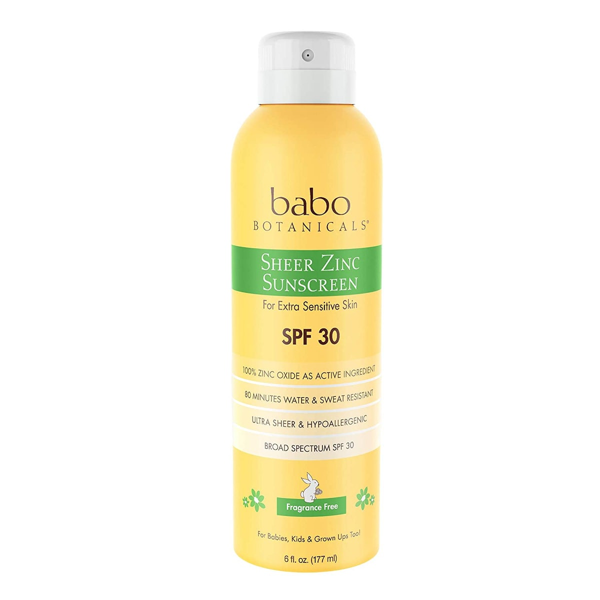 Babo Botanicals Sheer Zinc Continuous Spray Sunscreen