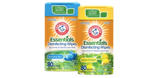 Arm & Hammer's New Essentials disinfecting wipes kill the covid-19 causing virus coronavirus and other viruses and bacteria