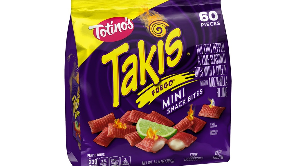 Totino's Takis Fuego Mini Snack Bites are available at retailers nationwide.