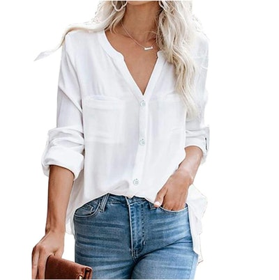 Hiistandd Button Down Blouse