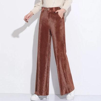 Berna Corduroy Cropped Wide-Leg Pants