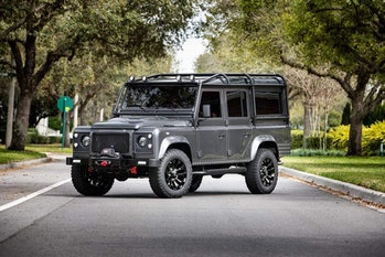 An electric Defender Land Rover from ECD.