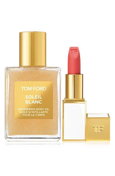Soleil Blanc Shimmering Body Oil & Lip Color Sheer Set