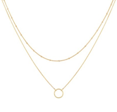 Mevecco Layered Heart Necklace