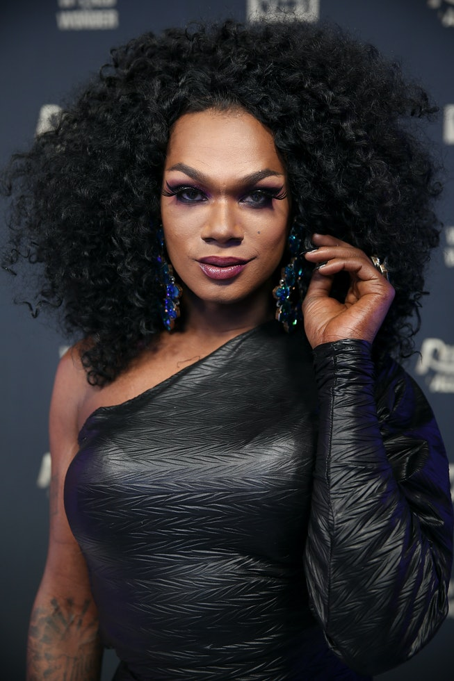 """Drag queens Chi Chi DeVayne attends """"RuPaul's Drag Race All Stars"""" Meet The Queens on January 17, 2018 in New York City."""
