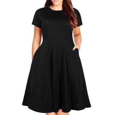 Nemidor Plus Size Fit And Flare Dress