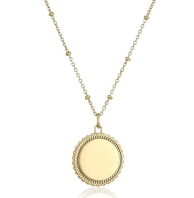 Fossil Stainless Steel Gold-Tone Pendant Necklace